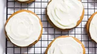 Gluten-Free Gingerbread Cookies with Cream Cheese Frosting