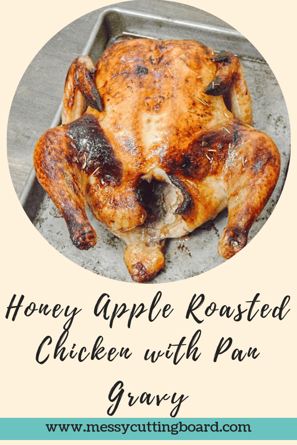 Title Image Honey Apple Roasted Chicken with Pan Gravy