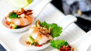 Thai Shrimp Salad Appetizer Spoons