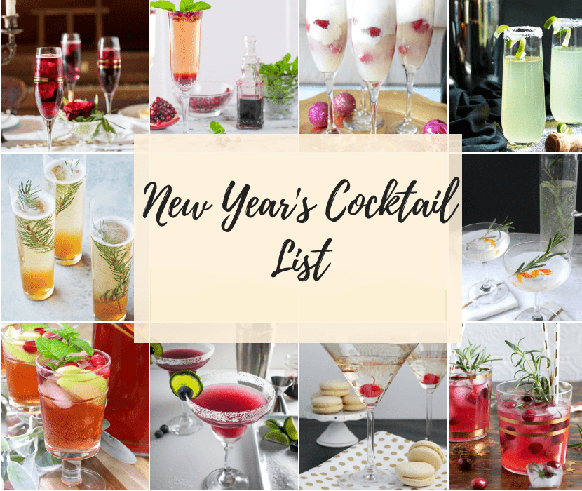 Feature of New Years Cocktail List