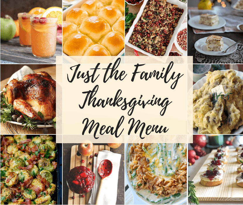 Feature for Just Family Thanksgiving Meal Menu