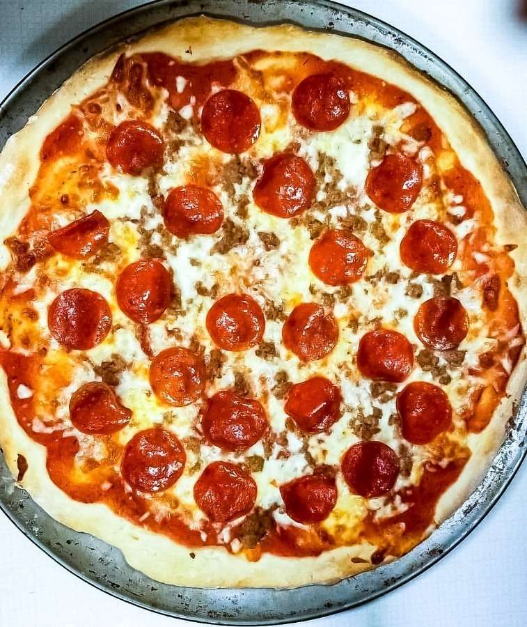 Meat lovers pizza is the perfect dish for fun family Friday!
