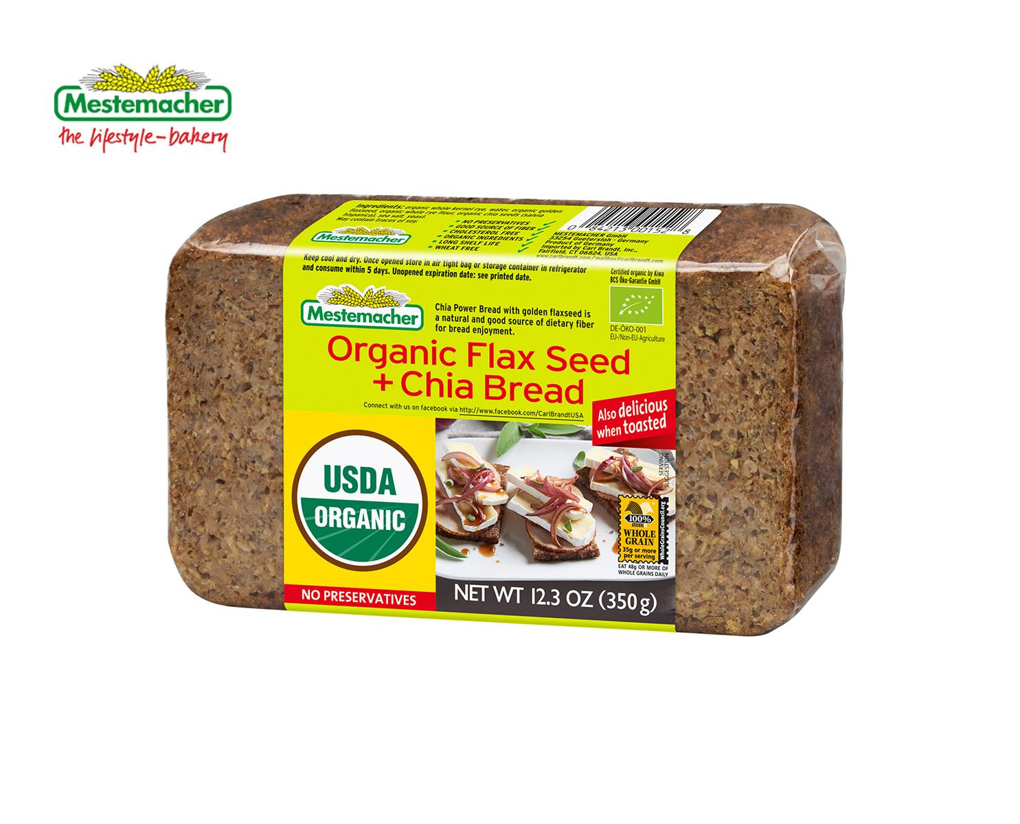 Organic Flax Seed + Chia Bread – Mestemacher