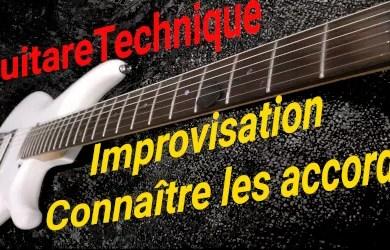Improvisation : connaître les accords