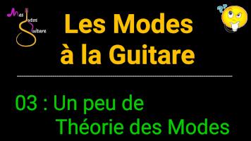 Les modes : un peu de théorie pour les maîtriser tous