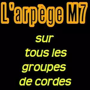 Les arpèges M7 par groupe de cordes