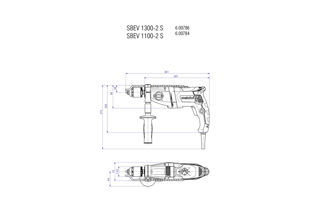 medium resolution of sbev 1300 2 s 600786500 impact drill metabo power tools rh metabo com metabo grinder parts metabo drill wiring diagram