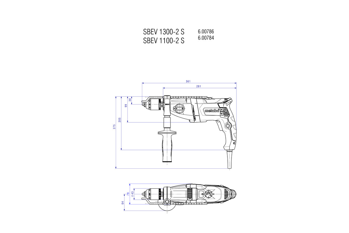 hight resolution of sbev 1300 2 s 600786500 impact drill metabo power tools rh metabo com metabo grinder parts metabo drill wiring diagram