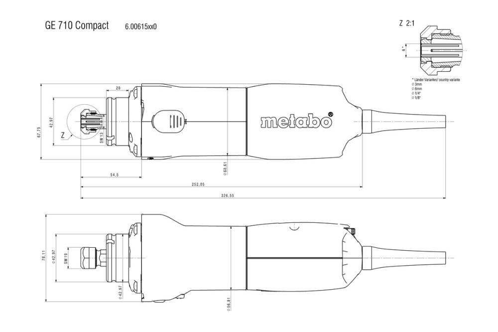 medium resolution of ge 710 compact 600615000 die grinder metabo power tools metabo grinder wiring diagram metabo wiring diagram