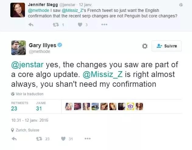 Malgré les démentis de Gary Mills la mise à jour en temps réel de Google Penguin 4.0 ou ses tests auraient pu commencer là !