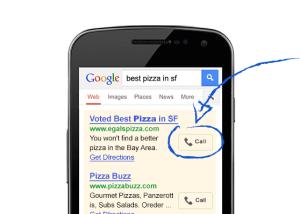 Annonce Cliquer pour appeler au téléphone Marketing Mobile