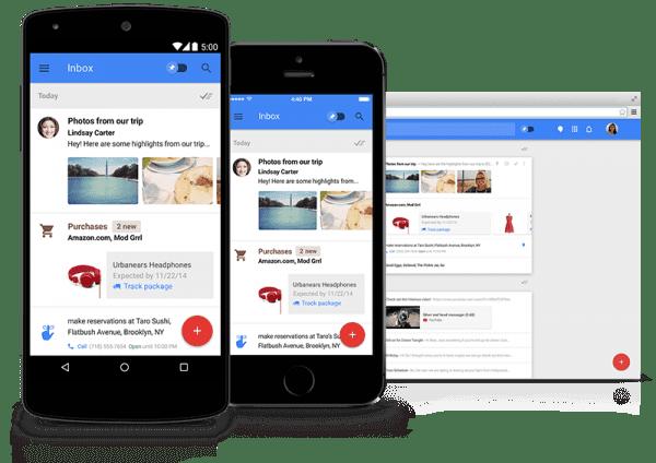 Gmail accepte le design responsive dans sa messagerie