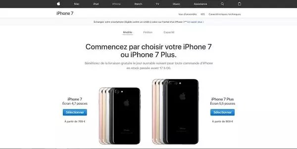 Landing page Apple