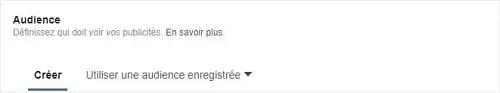 Capture d'écran ds personnes à contacter pour vos annonces Facebook