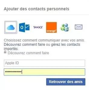 Demande ami sur Facebook
