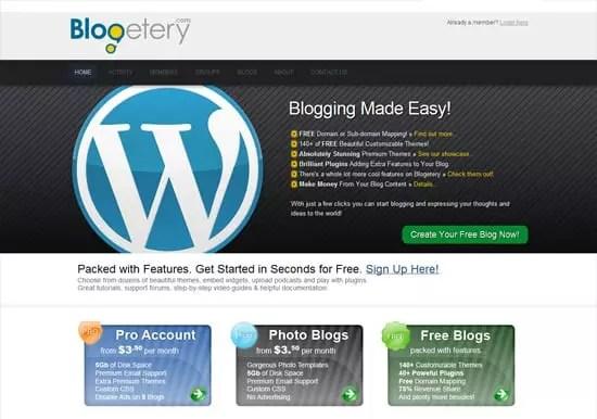 Plateforme de blog en ligne gratuit Blogeryery