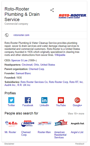 Exemple de fiche Google My Business