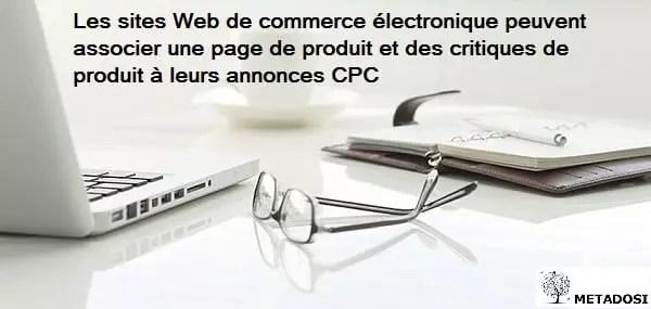 Une déclaration sur les fonctionnalités des annonces PPC pour le commerce électronique
