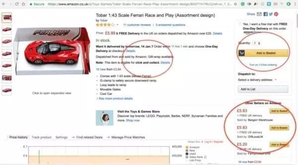Algorithme Amazon Buy Box