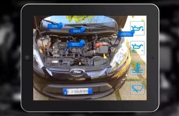 Application de réalité augmentée pour l'entretien automobile