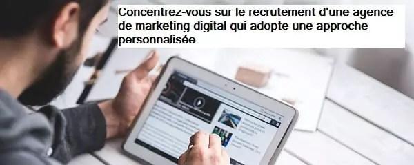 Travailler avec une agence de marketing digital qui met l'accent sur des stratégies personnalisées