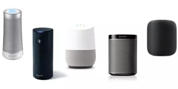 Recherche vocale avec haut-parleur connecté