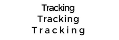 Tracking Typographie
