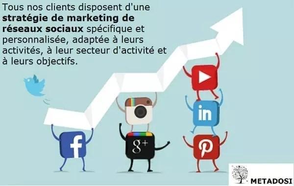 Déclaration sur le fonctionnement des services de marketing des réseaux sociaux de Metadosi