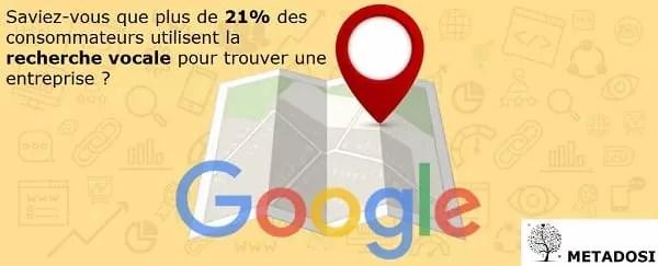 21% des utilisateurs utilisent la recherche vocale en France pour trouver une entreprise