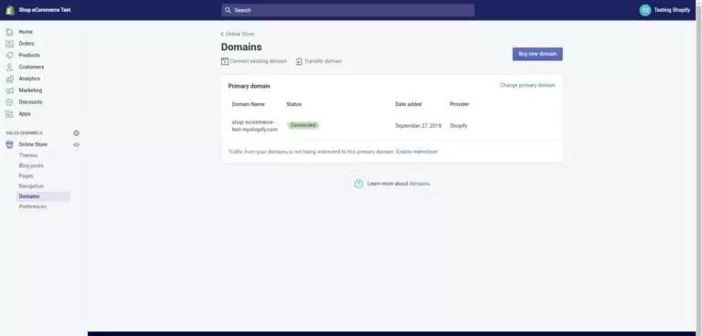 ajout de domaines personnalisés sur shopify
