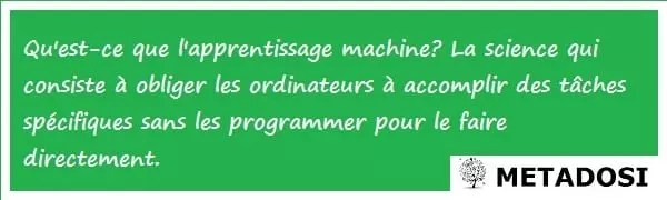Définition de l'apprentissage machine