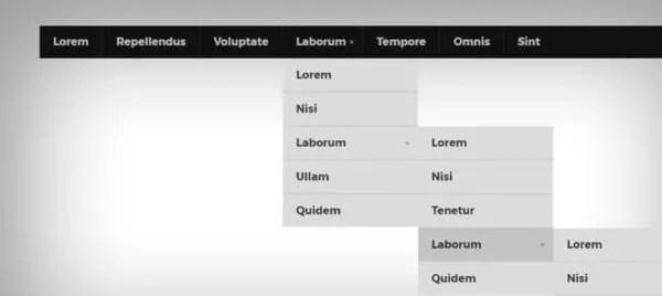 50 exemples de menus de navigation déroulants dans les conceptions Web