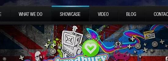 Capture d'écran du menu de navigation netdreams.co.uk.