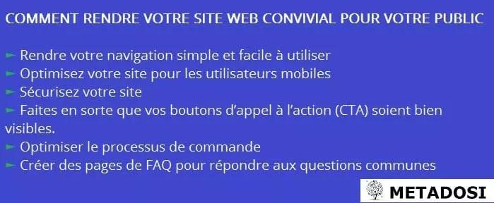 Un site web convivial contribue à la satisfaction client