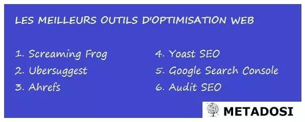 Les 6 meilleurs outils d'optimisation de site internet