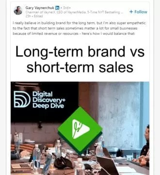 Video Timeline Linkedin