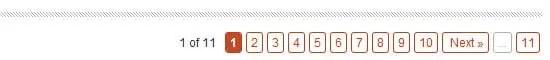 Pagination avec navigation multi-pages