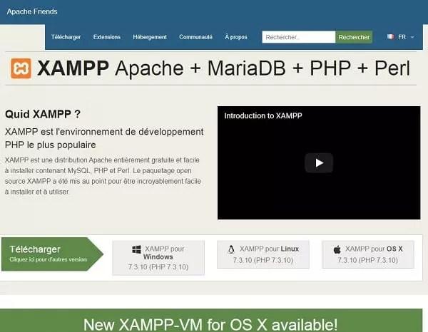 Page d'accueil XAMPP