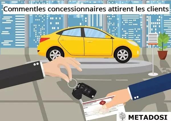 Comment les concessionnaires automobiles attirent les clients