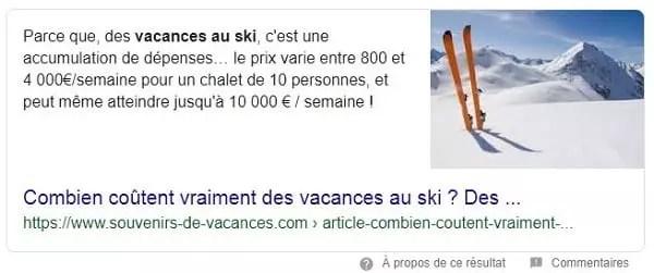 Combien coûte les vacances au ski ? en Position zéro
