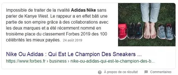 Position zéro de la question Nike ou Adidas