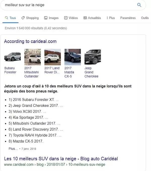 """Optimiser pour les featured snippet """"extraits optimisés"""""""