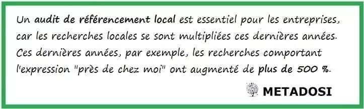 Pourquoi les services de consultant SEO devraient inclure un audit de référencement local