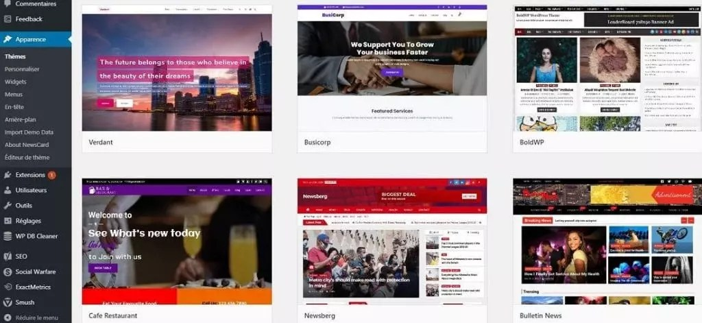 Theme gratuit WordPress