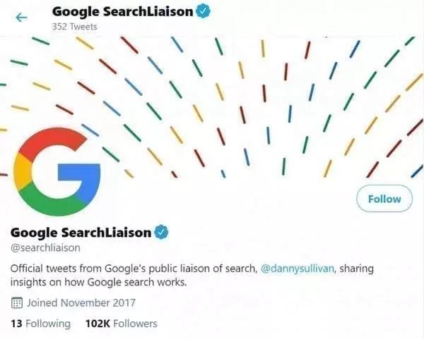 Le compte Twitter de Google Search Liaison
