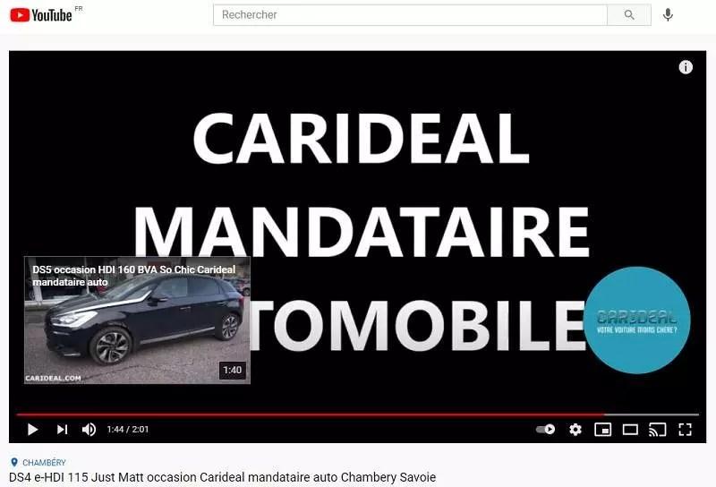 Un écran de fin sur YouTube pour Carideal