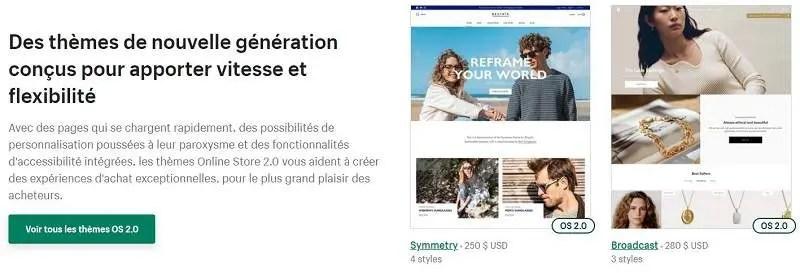 Thème nouvelle génération 2.0 Shopify
