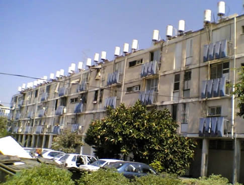 Solar Heaters On Apartments In Israel