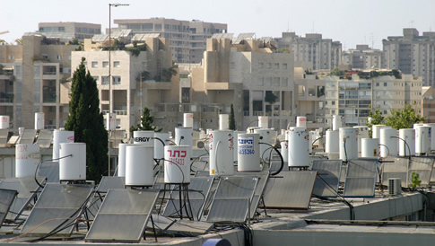 Solar Water Heaters On Roof