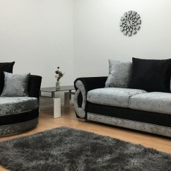 Black 3 Seater Sofa And Cuddle Chair Istikbal Bed Covers Showing Photos Of Sofas Chairs View 6 20 Chloe Silver Gallery